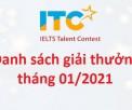 Kỳ thi Tài năng IELTS - Kết quả Vòng thi tháng 01/2021