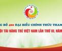 Công bố 400 đại biểu chính thức tham dự Đại hội Tài năng trẻ Việt Nam lần thứ III, năm 2020